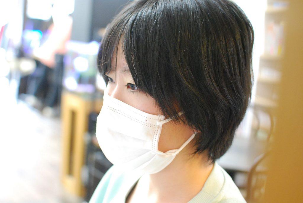 マスクをしていないと教室にはいれない。